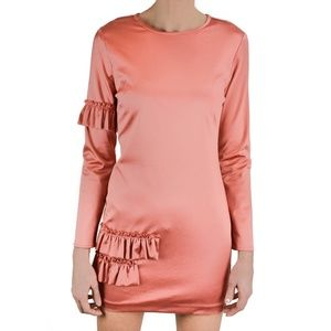 Cynthia Rowley Aeris Satin Ruffle Mini Dress NWT